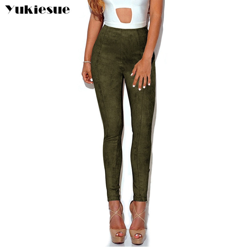 Sexy Leather & Suede Women's Pants