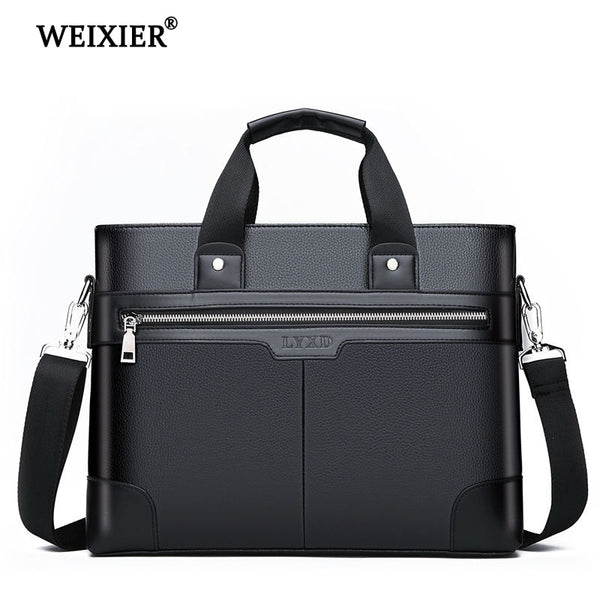 Men's PU Leather Shoulder Business Laptop Briefcases
