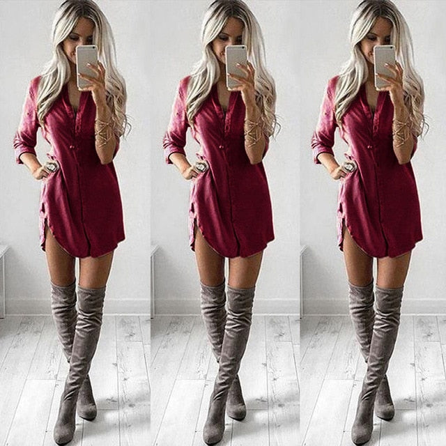 Women's Summer Shirt Dress