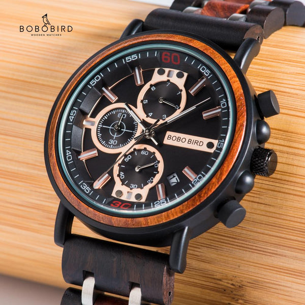 Men's BOBO BIRD Multifunction Watch