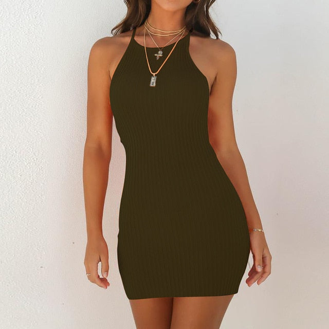Women's Summer Sleeveless Bodycon Dress
