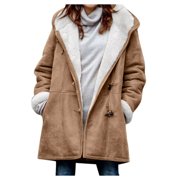 Women's Hooded Velvet Winter Coat