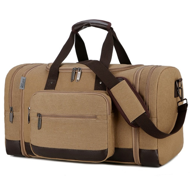 Large Capacity Canvas Travel Duffle Bag