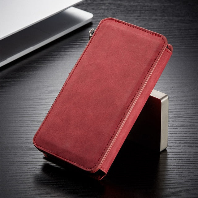 Retro Leather Wallet Phone Case For iPhone