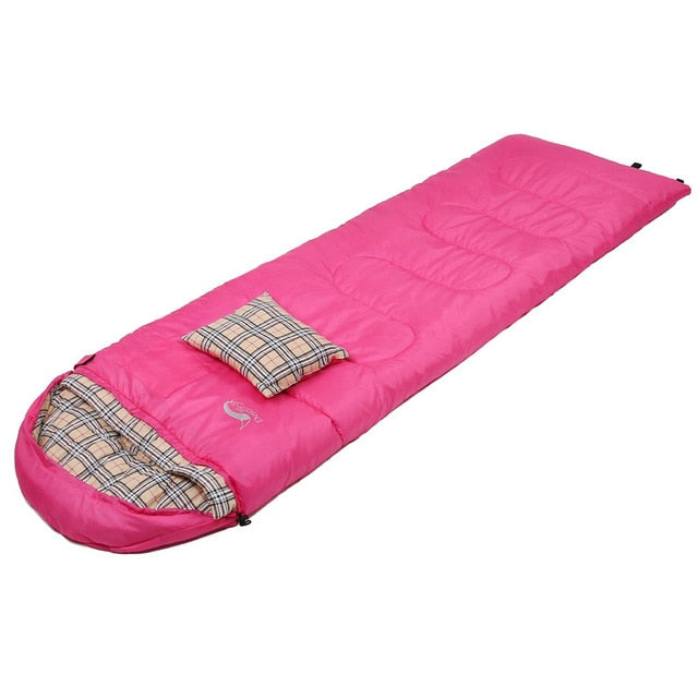 Desert&Fox Cotton Flannel Sleeping Bag with Pillow