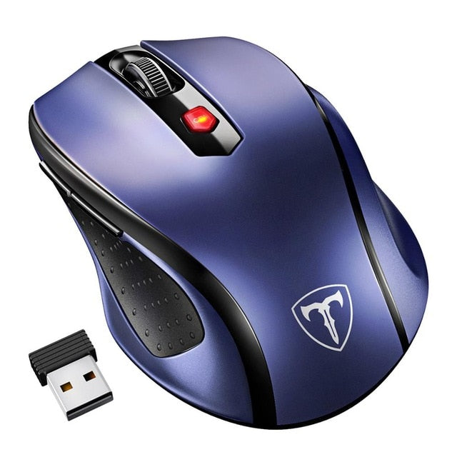 Wireless Mouse 2.4Ghz Ergonomic Design Optical Mice 6 Buttons