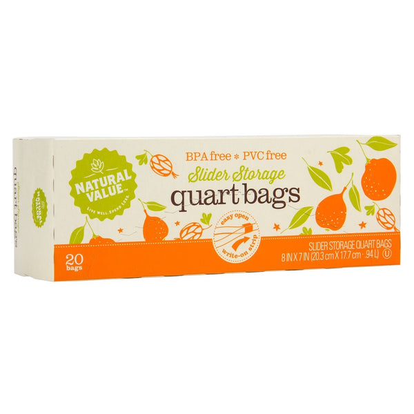 Slider Storage Quart Bags - 20 Count