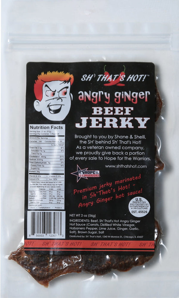 Angry Ginger Beef Jerky - 2 oz.