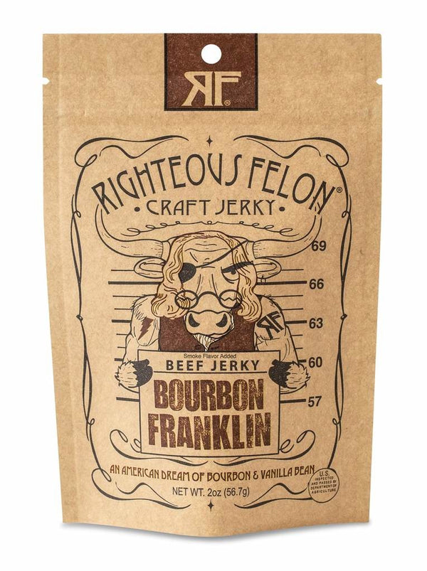 Bourbon Franklin Beef Jerky - 2 oz