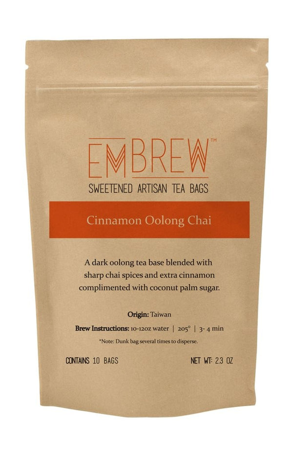 Cinnamon Oolong Chai Sweetened Tea Bags - 10 Bags