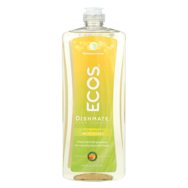 Hypoallergenic Dishmate Dish Soap - Bamboo Lemon - 25 oz.