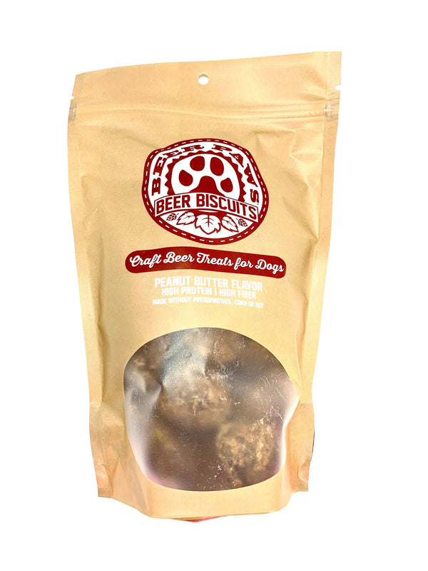 Peanut Butter Flavor Beer Biscuits - Craft Beer Treats for Dogs - 6 oz.