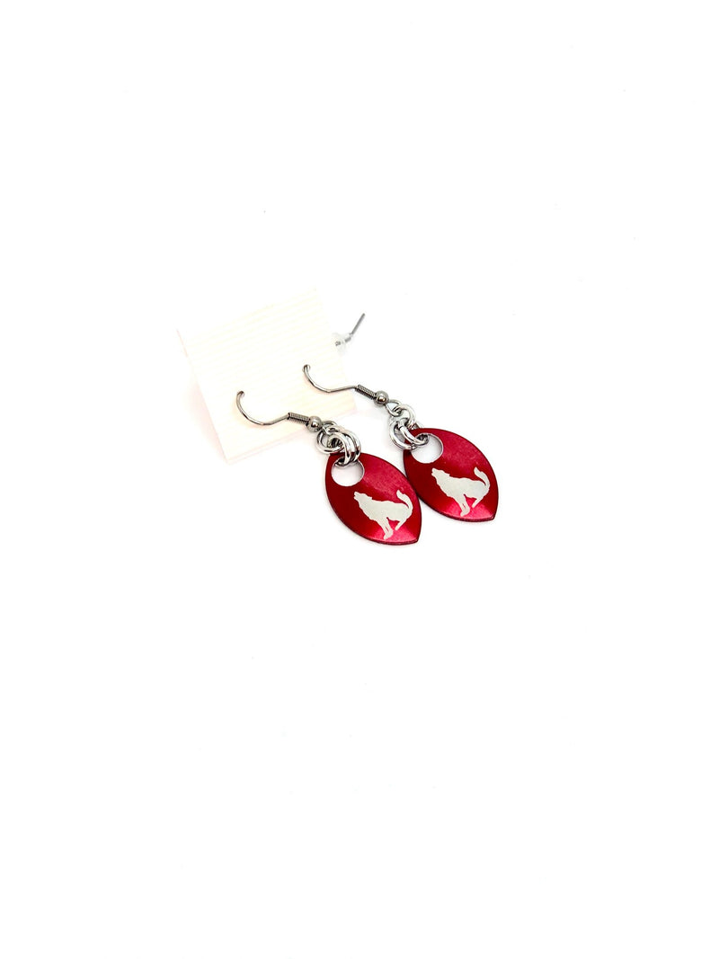 Wolfpack Scale Earrings - Red