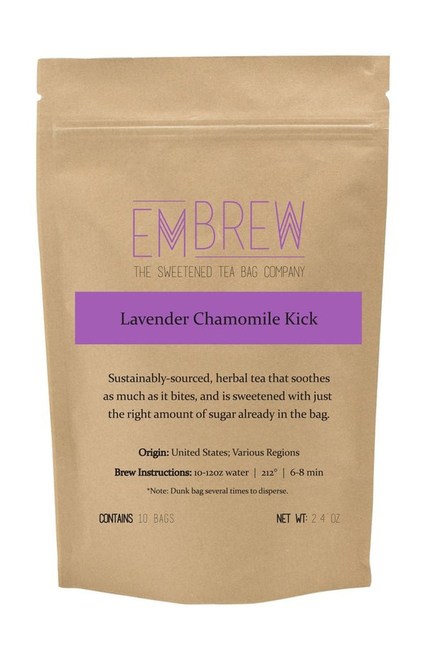 Lavender Chamomile Kick Sweetened Herbal Tea Bags - 10 Bags