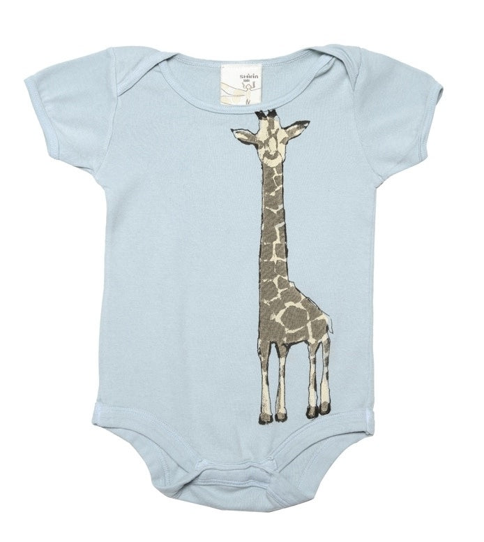 Organic Infant One Piece - Giraffe Print