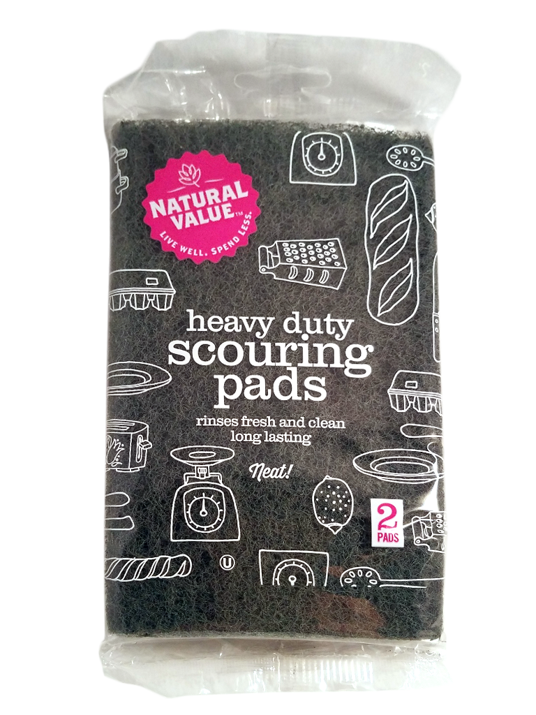 Heavy Duty Scouring Pads - 2 Pack