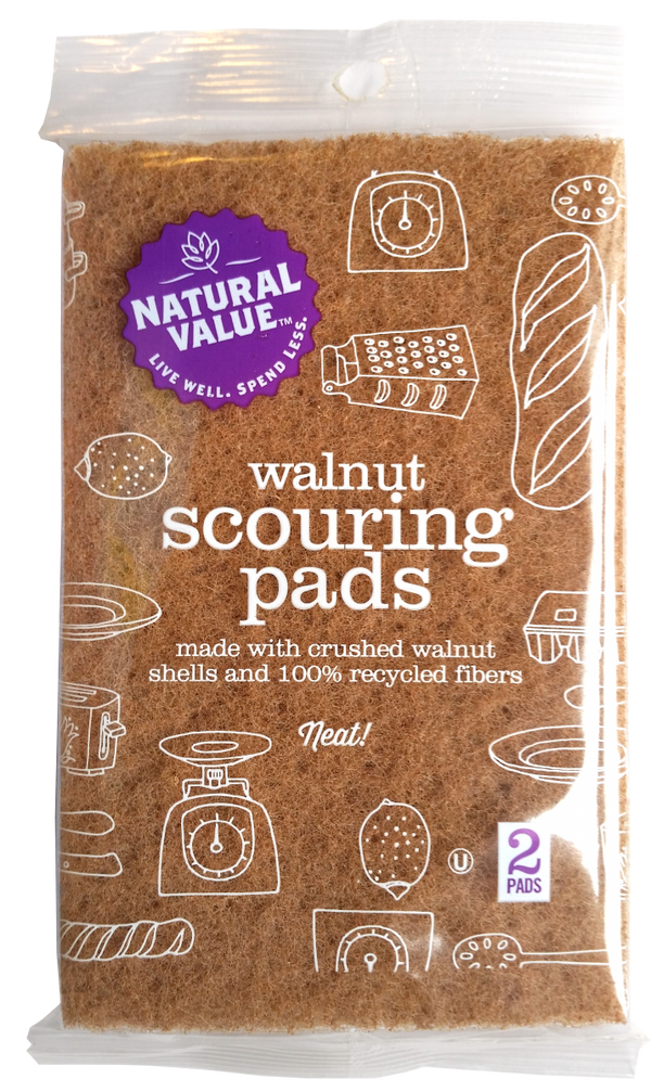 Walnut Scouring Pads - 2 Pack