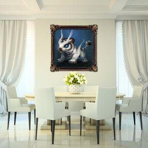 Cartoon Tiger Drill Diamond Painting 25X25CM(Canvas)