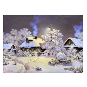 Snow House Square Drill Diamond Painting 30X24CM(Canvas)