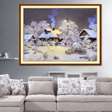 Load image into Gallery viewer, Snow House Square Drill Diamond Painting 30X24CM(Canvas)