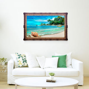 Island Drill Diamond Painting 40X30CM(Canvas)