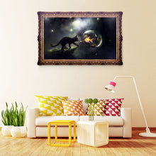 Load image into Gallery viewer, Night Black Cat Round Drill Diamond Painting 40X30CM(Canvas)