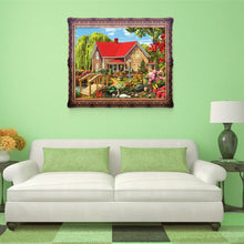 Load image into Gallery viewer, Garden House Round Drill Diamond Painting 40X30CM(Canvas)