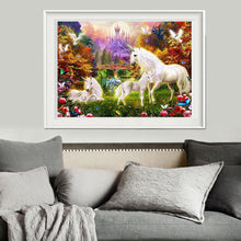 Load image into Gallery viewer, Horses Round Drill Diamond Painting 40X30CM(Canvas)