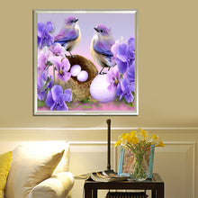 Load image into Gallery viewer, Bird Round Drill Diamond Painting 30X30CM(Canvas)