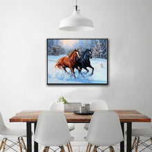 Load image into Gallery viewer, Two Horse Round Drill Diamond Painting 40X30CM(Canvas)
