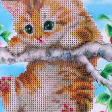 Load image into Gallery viewer, Cartoon Animal Cat Round Drill Diamond Painting 30X40CM(Canvas)