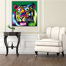 Load image into Gallery viewer, Colorful Tiger Round Drill Diamond Painting 30X30CM(Canvas)