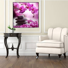 Load image into Gallery viewer, Phalaenopsis Stone Round Drill Diamond Painting 30X30CM(Canvas)