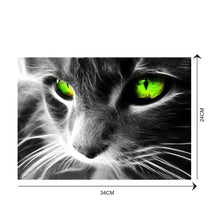 Load image into Gallery viewer, Green Eye Cat Round Drill Diamond Painting 40X30CM(Canvas)