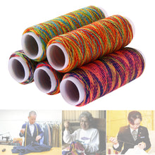 Load image into Gallery viewer, 5pcs Rainbow Color Sewing Thread Hand Quilting Embroidery Sewing Thread