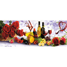 Load image into Gallery viewer, Rose Wine s Drill Diamond Painting 75X30CM(Canvas)