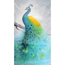 Load image into Gallery viewer, Green Bird s Drill Diamond Painting 28X45CM(Canvas)