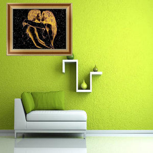 Lovers Kissing Round Drill Diamond Painting 40X30CM(Canvas)