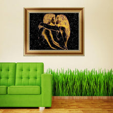 Load image into Gallery viewer, Lovers Kissing Round Drill Diamond Painting 40X30CM(Canvas)