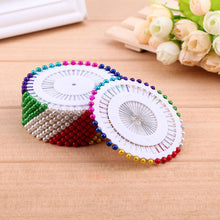 Load image into Gallery viewer, 480pcs 1.46in Round Pearl Straight Head Pins Embroidery Sewing Pins(Color)
