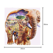 Load image into Gallery viewer, Elephant Part Drill Diamond Painting 30X30CM(Canvas)