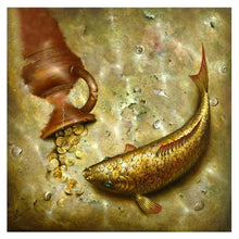 Load image into Gallery viewer, Fish Round Drill Diamond Painting 30X30CM(Canvas)