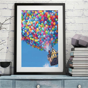 Balloon House Part Drill Diamond Painting 30X40CM(Canvas)