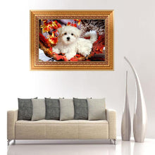 Load image into Gallery viewer, Dog Animal Round Drill Diamond Painting 28X44CM(Canvas)