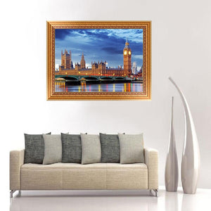 Crystal London Night View Round Drill Diamond Painting 40X30CM(Canvas)