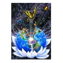 Load image into Gallery viewer, Global Butterfly Part Drill Diamond Painting 30X40CM(Canvas)