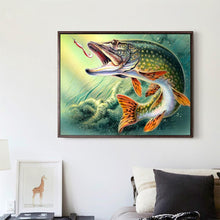 Load image into Gallery viewer, Fish Bite Hook Round Drill Diamond Painting 40X30CM(Canvas)