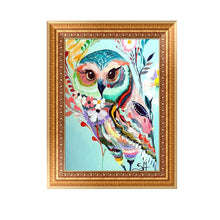 Load image into Gallery viewer, Animal Round Drill Diamond Painting 30X20CM(Canvas)