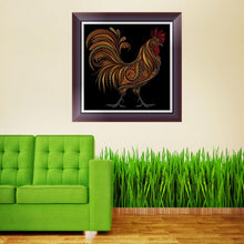 Load image into Gallery viewer, Cock Animals Round Drill Diamond Painting 30X30CM(Canvas)