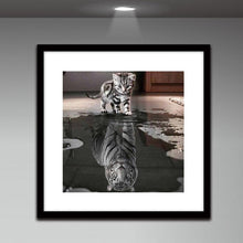 Load image into Gallery viewer, Cat Tiger Drill Diamond Painting 30X30CM(Canvas)